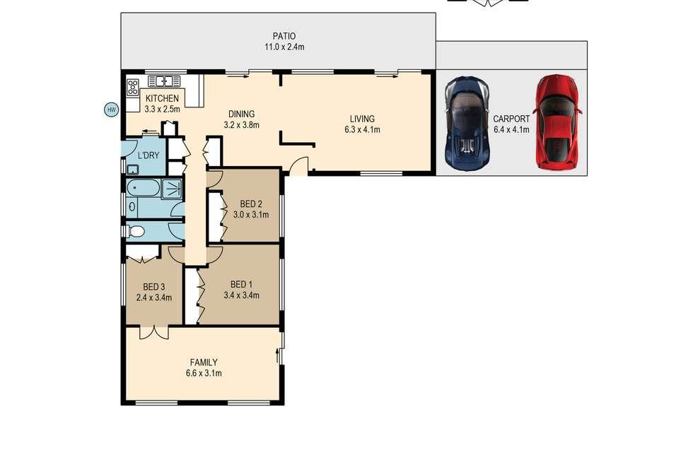 Floorplan of Homely house listing, 14 Marlock Street, Bellbowrie QLD 4070