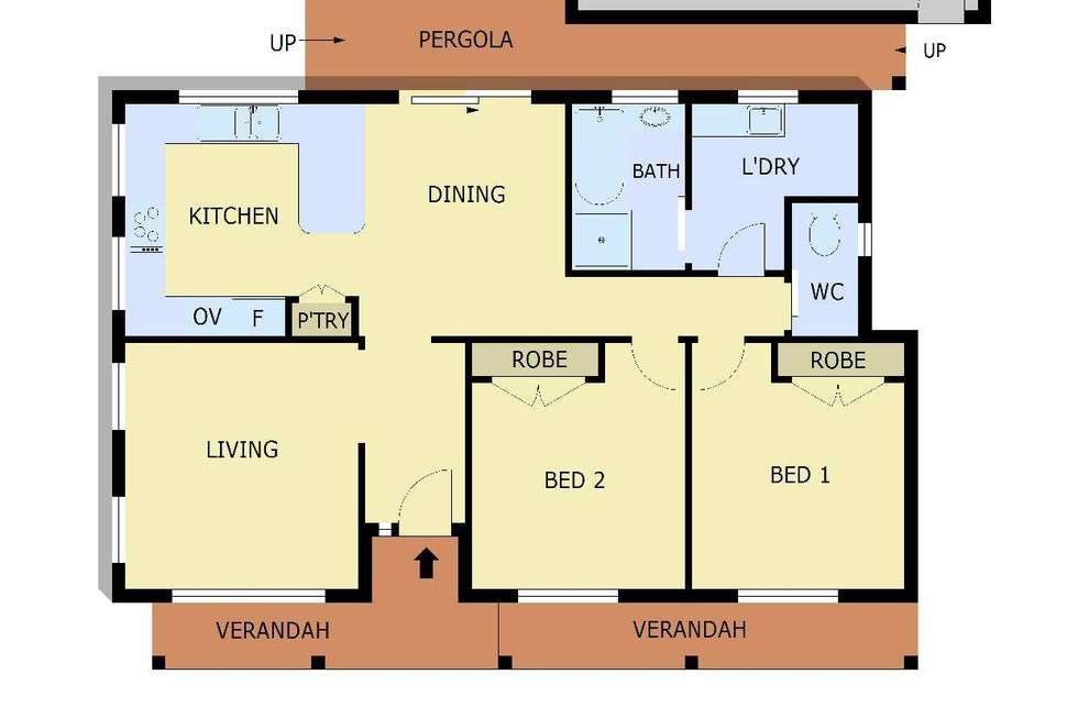 Floorplan of Homely unit listing, 1/35 George Chudleigh Drive, Hallam VIC 3803