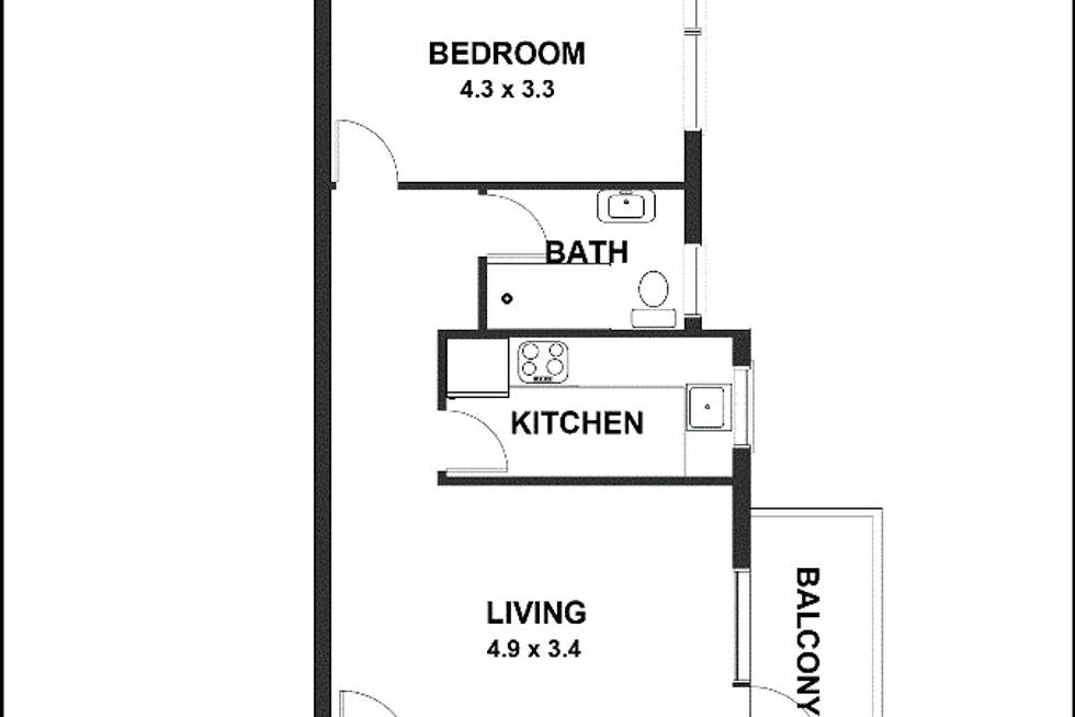 Floorplan of Homely apartment listing, 3/186 Raglan Street, Mosman NSW 2088