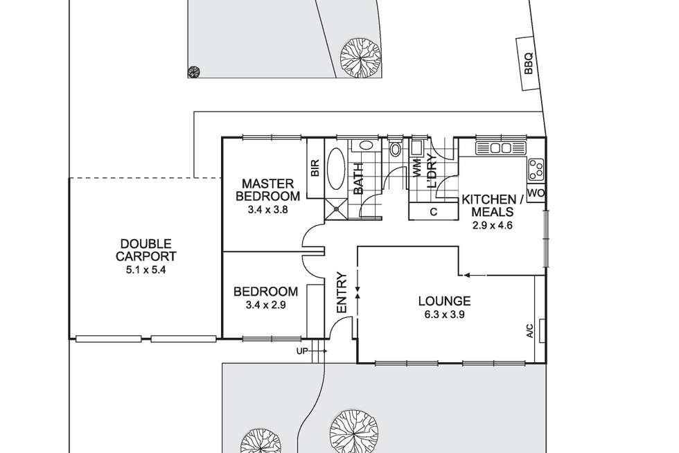 Floorplan of Homely unit listing, 2/50 Elizabeth Street, Coburg VIC 3058