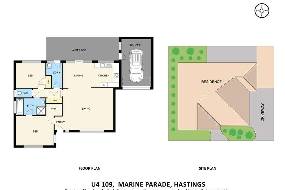Floorplan of Homely unit listing, 4/109 Marine Parade, Hastings VIC 3915