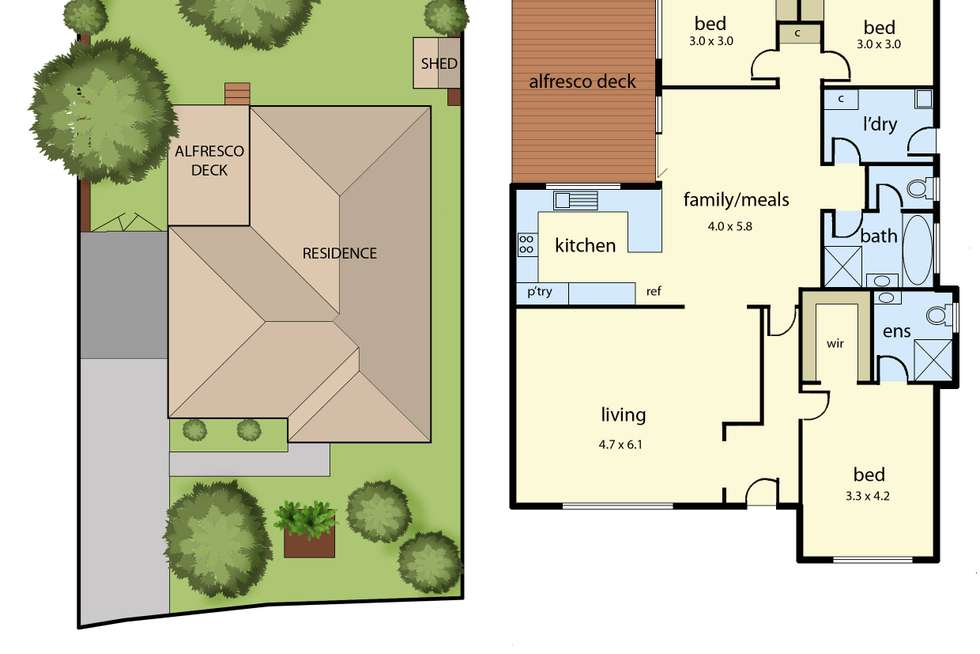 Floorplan of Homely house listing, 50 Nettle Drive, Hallam VIC 3803
