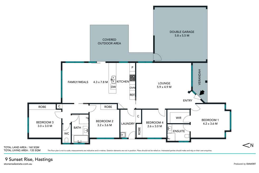 Floorplan of Homely house listing, 9 Sunset Rise, Hastings VIC 3915