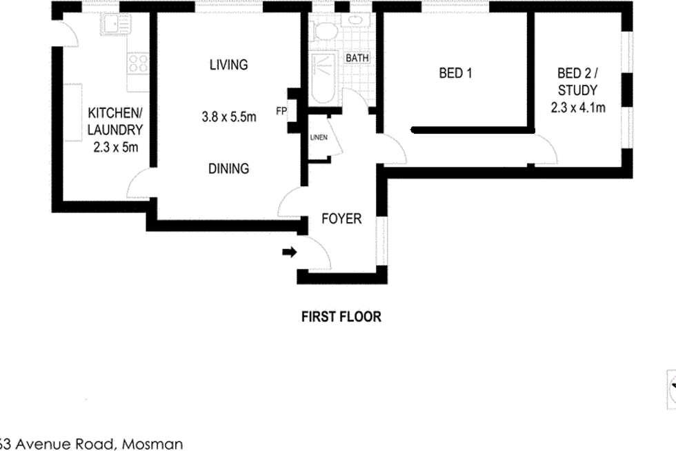 Floorplan of Homely apartment listing, 7/163 Avenue Road, Mosman NSW 2088
