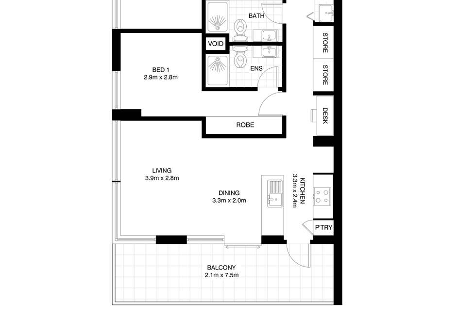 Floorplan of Homely apartment listing, A402/7 Church Street, Drummoyne NSW 2047