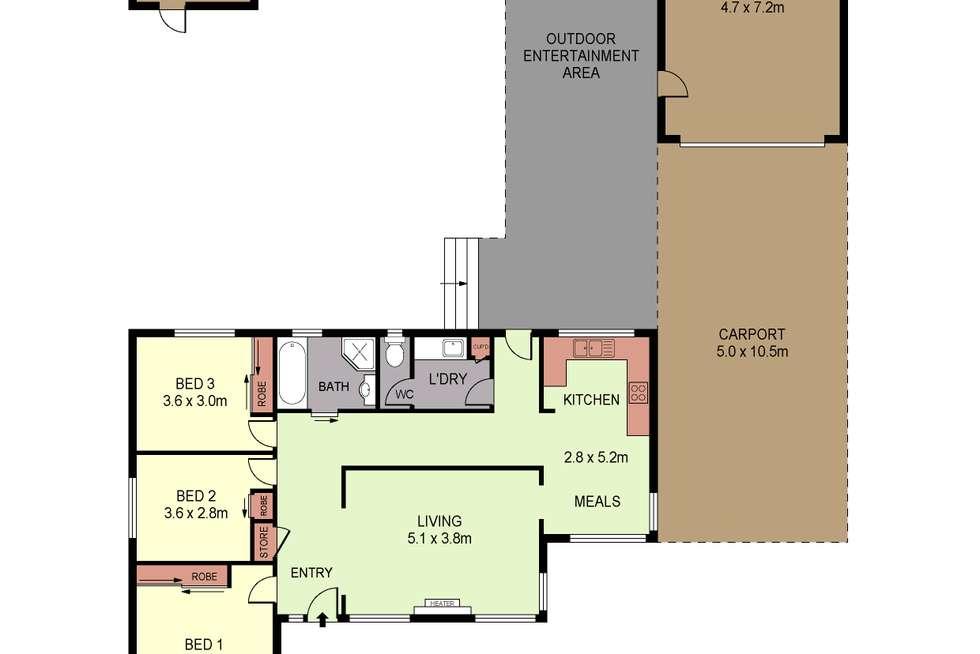Floorplan of Homely house listing, 2 Marroo Street, White Hills VIC 3550