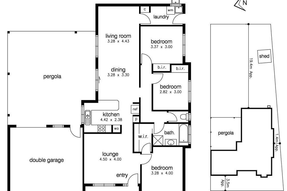 Floorplan of Homely house listing, 14 Clematis Place, Sunshine West VIC 3020