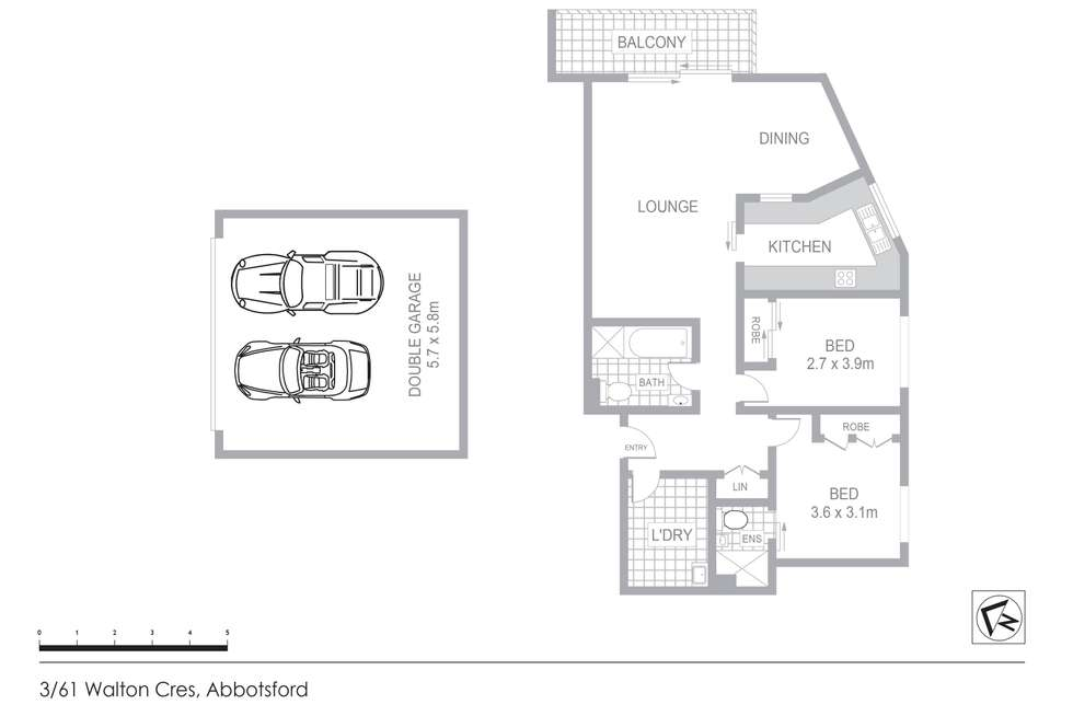 Floorplan of Homely apartment listing, 3/61 Walton Crescent, Abbotsford NSW 2046