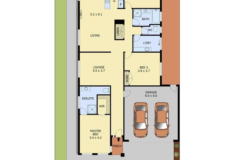 Floorplan of Homely house listing, 8 Eccles Way, Botanic Ridge VIC 3977