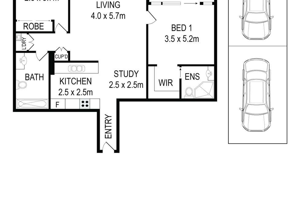 Floorplan of Homely apartment listing, 602A/1 Jack  Brabham Drive, Hurstville NSW 2220