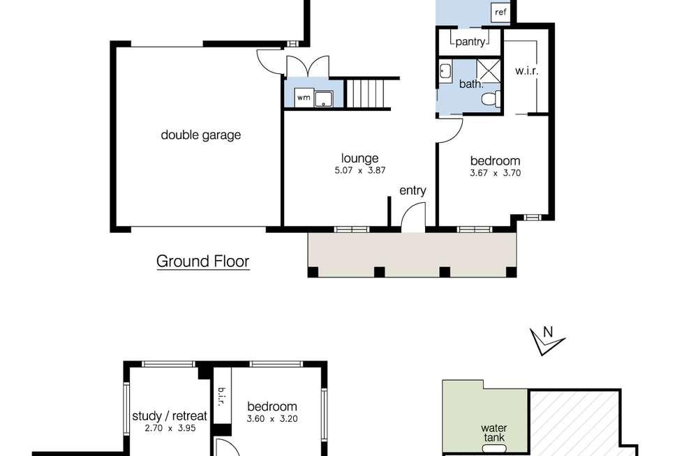 Floorplan of Homely townhouse listing, 1/39 Bardsley Street, Sunshine West VIC 3020