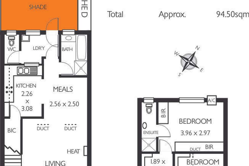 Floorplan of Homely unit listing, 6/12 Bakewell Road, Evandale SA 5069