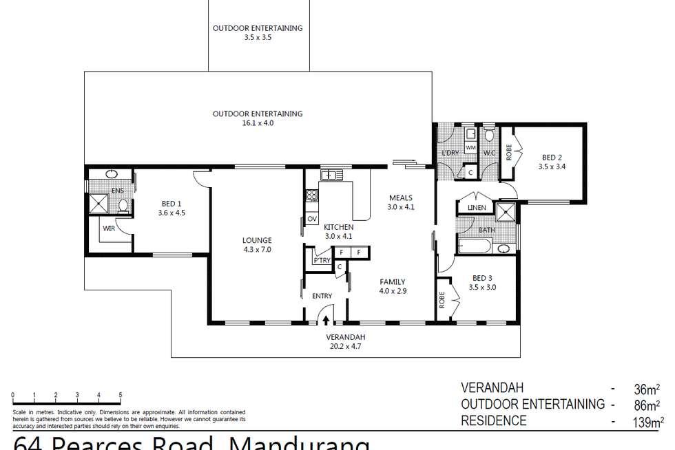Floorplan of Homely house listing, 64 Pearces Road, Mandurang VIC 3551