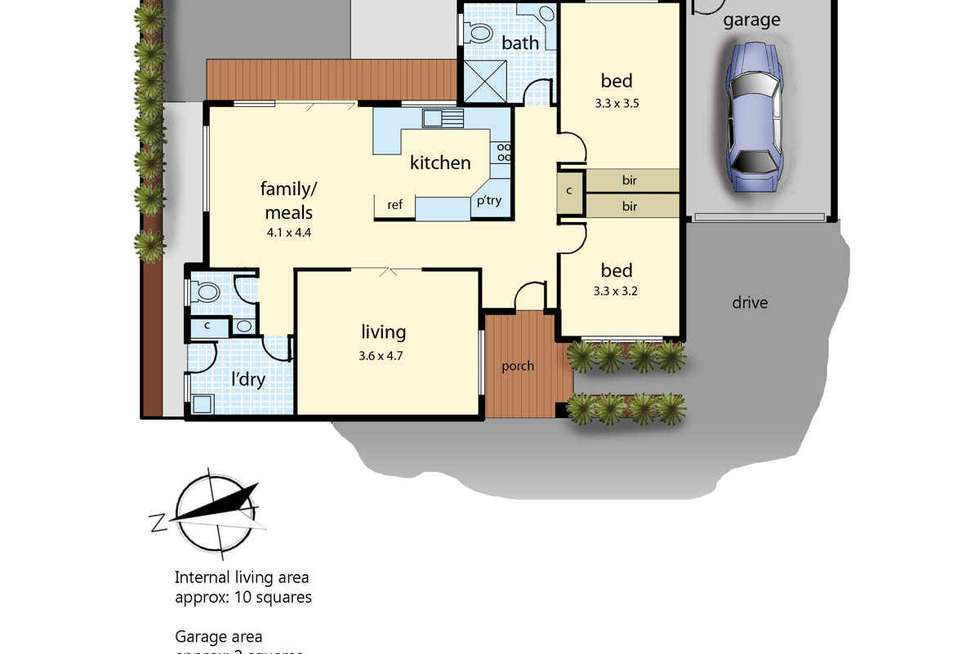 Floorplan of Homely unit listing, 2/126 Wanda Street, Mulgrave VIC 3170