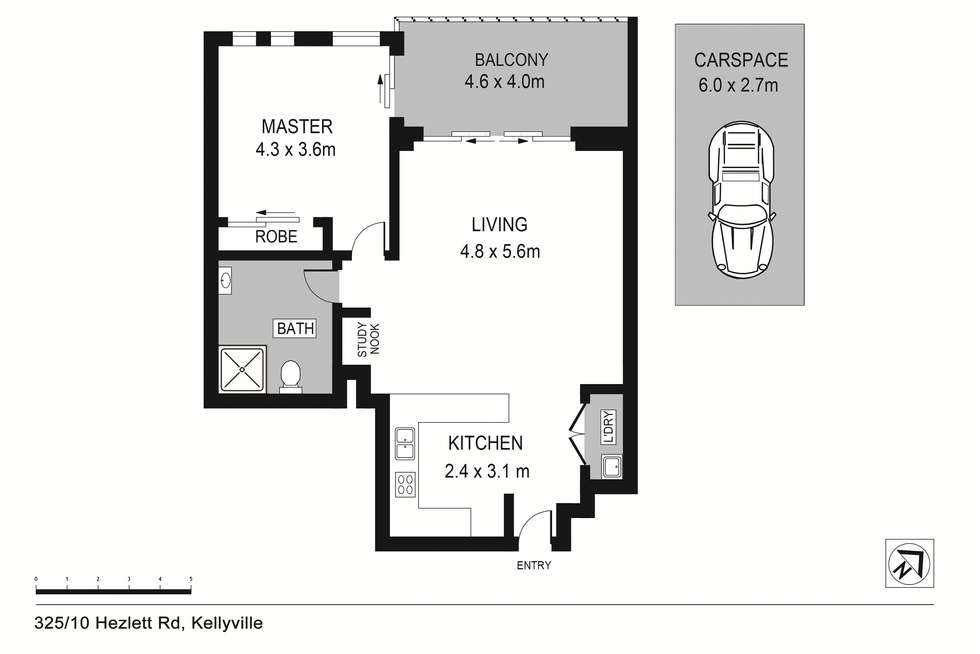 Floorplan of Homely apartment listing, 325/10 Hezlett Road, North Kellyville NSW 2155