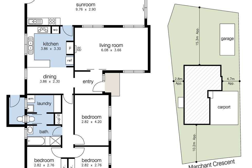 Floorplan of Homely house listing, 15 Marchant Crescent, Sunshine West VIC 3020