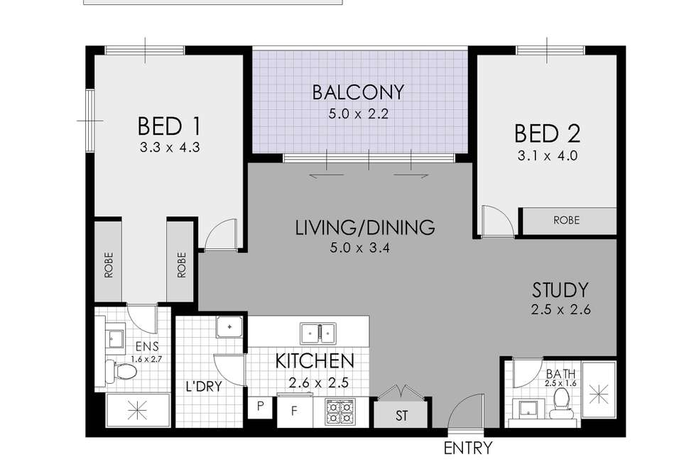 Floorplan of Homely apartment listing, 72 River Road, Ermington NSW 2115