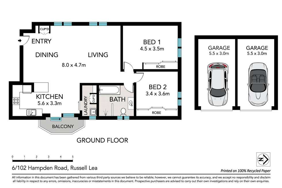 Floorplan of Homely apartment listing, 6/102 Hampden Road, Russell Lea NSW 2046