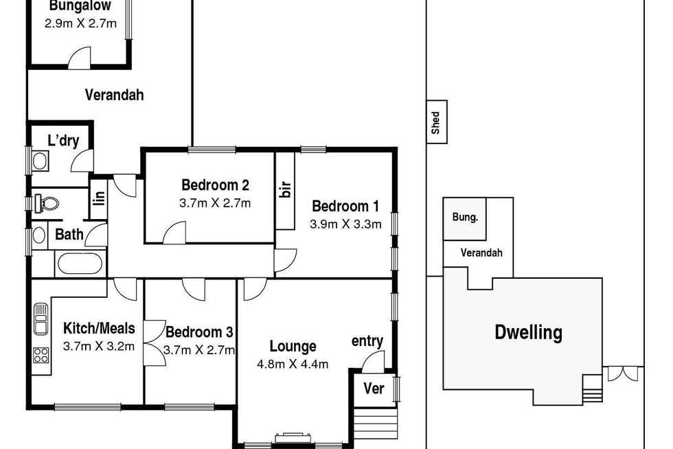 Floorplan of Homely house listing, 23A Fordham Road, Reservoir VIC 3073