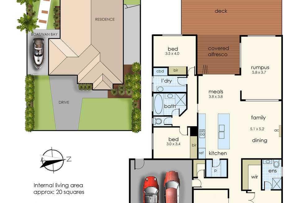 Floorplan of Homely house listing, 8 Andrew Court, Hastings VIC 3915