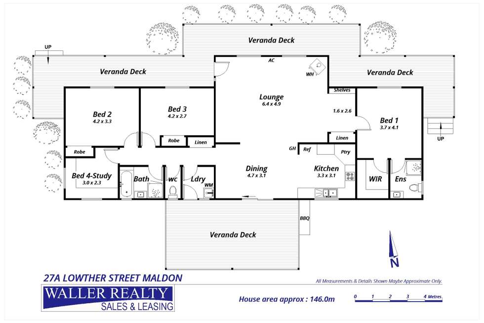 Floorplan of Homely house listing, 27a Lowther Street, Maldon VIC 3463