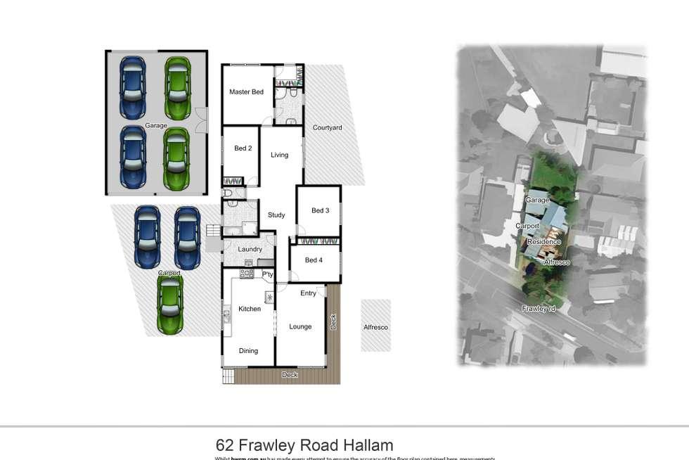Floorplan of Homely house listing, 62 Frawley Road, Hallam VIC 3803