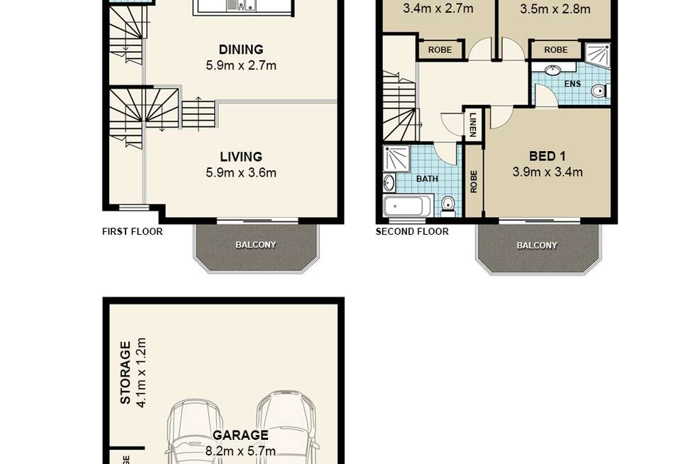 Floorplan of Homely townhouse listing, 2/94-116 Culloden Road, Marsfield NSW 2122