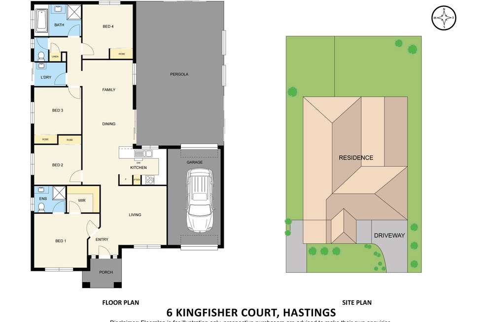 Floorplan of Homely house listing, 6 Kingfisher Court, Hastings VIC 3915