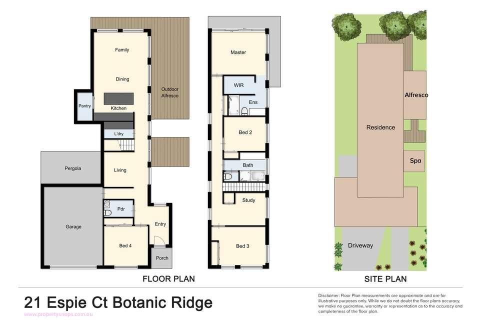 Floorplan of Homely house listing, 21 Espie Court, Botanic Ridge VIC 3977