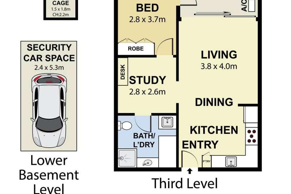 Floorplan of Homely apartment listing, 305/33 New Canterbury Road, Petersham NSW 2049