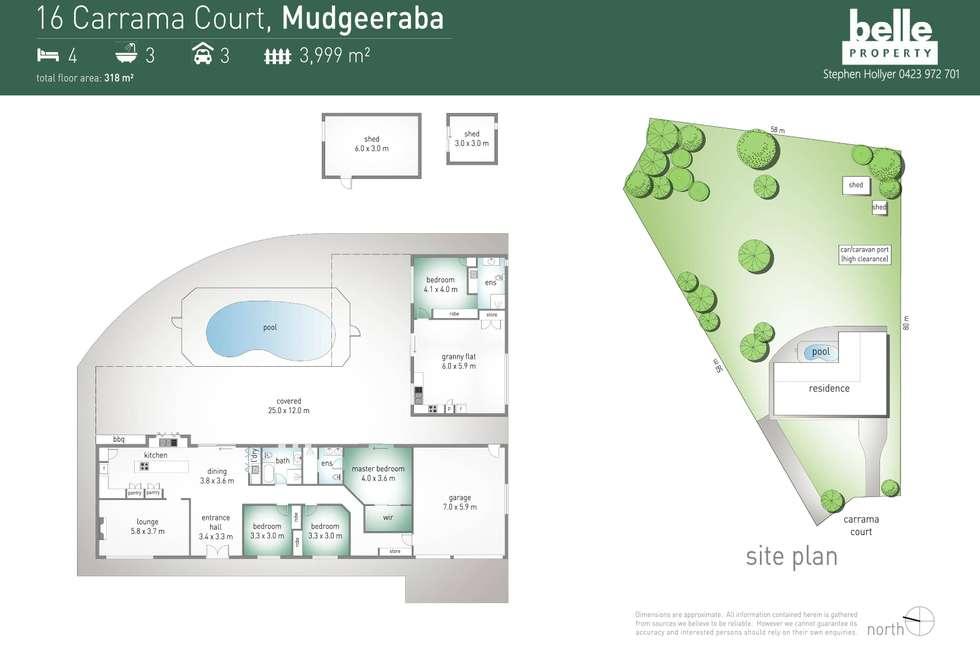 Floorplan of Homely house listing, 16 Carrama Court, Mudgeeraba QLD 4213