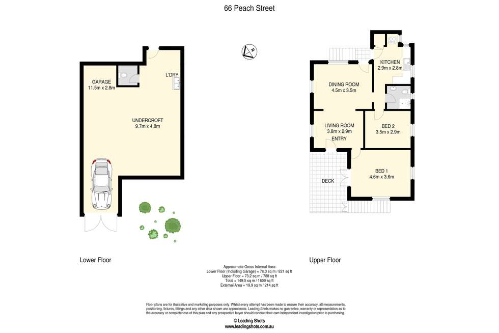 Floorplan of Homely residentialLand listing, 66 Peach Street, Greenslopes QLD 4120