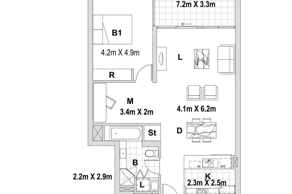 Floorplan of Homely apartment listing, 103B/1 Jack Brabham Drive, Hurstville NSW 2220