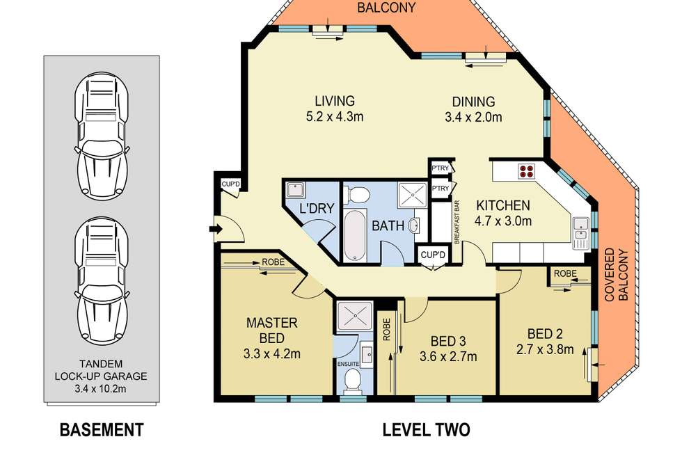 Floorplan of Homely apartment listing, 6/156 Old South Head Road, Bellevue Hill NSW 2023