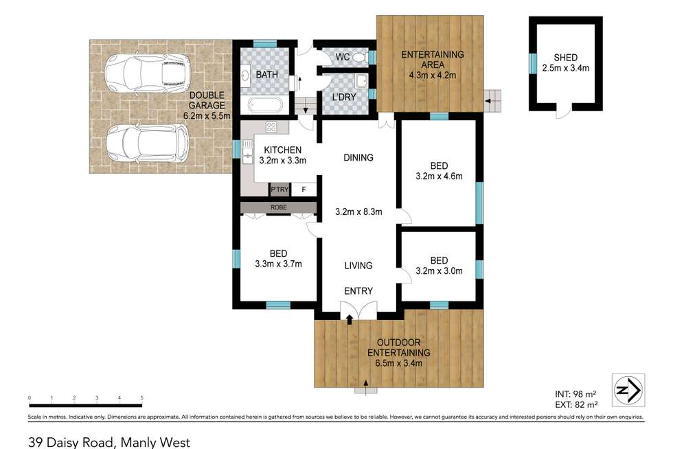 Floorplan of Homely house listing, 39 Daisy Road, Manly West QLD 4179