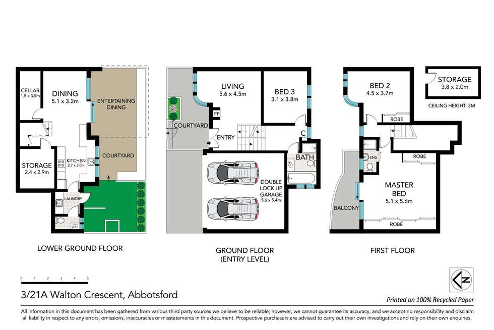 Floorplan of Homely townhouse listing, 3/21A Walton Crescent, Abbotsford NSW 2046