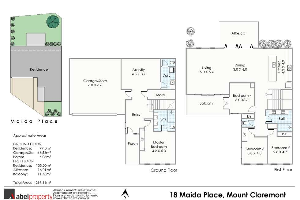 Floorplan of Homely house listing, 18 Maida Place, Mount Claremont WA 6010