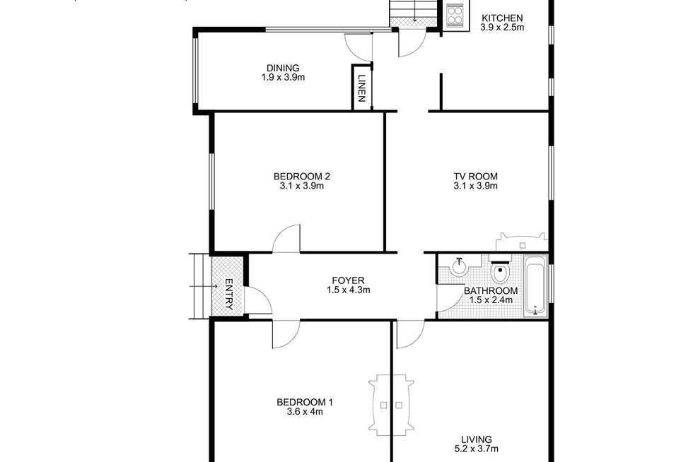 Floorplan of Homely house listing, 64 Macquarie Road, Auburn NSW 2144