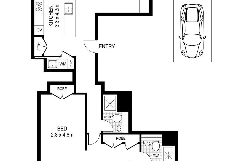 Floorplan of Homely apartment listing, 401/141-143 Elizabeth Street, Sydney NSW 2000