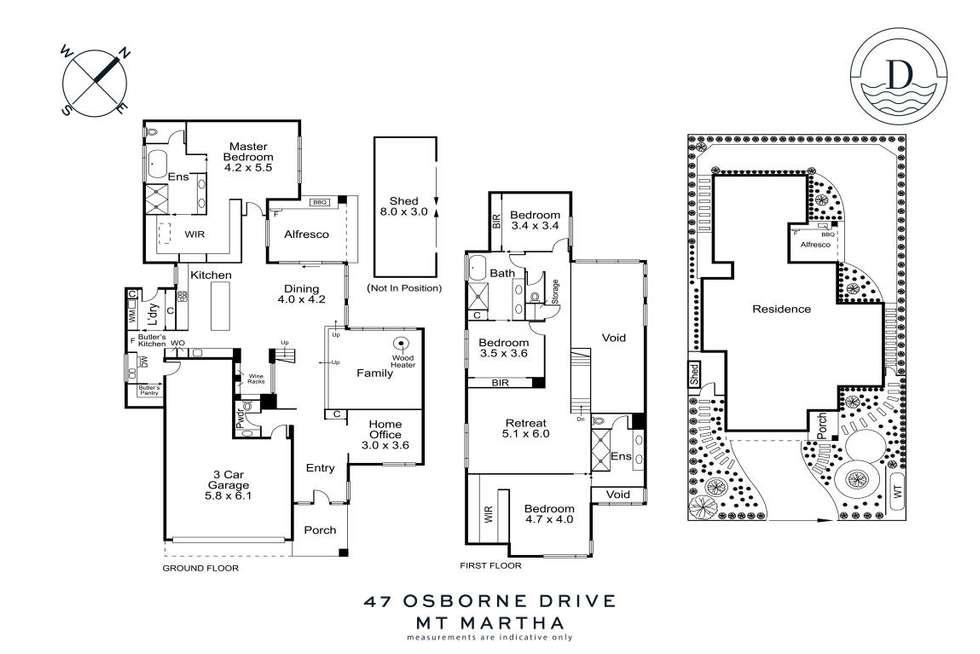 Floorplan of Homely house listing, 47 Osborne Drive, Mount Martha VIC 3934