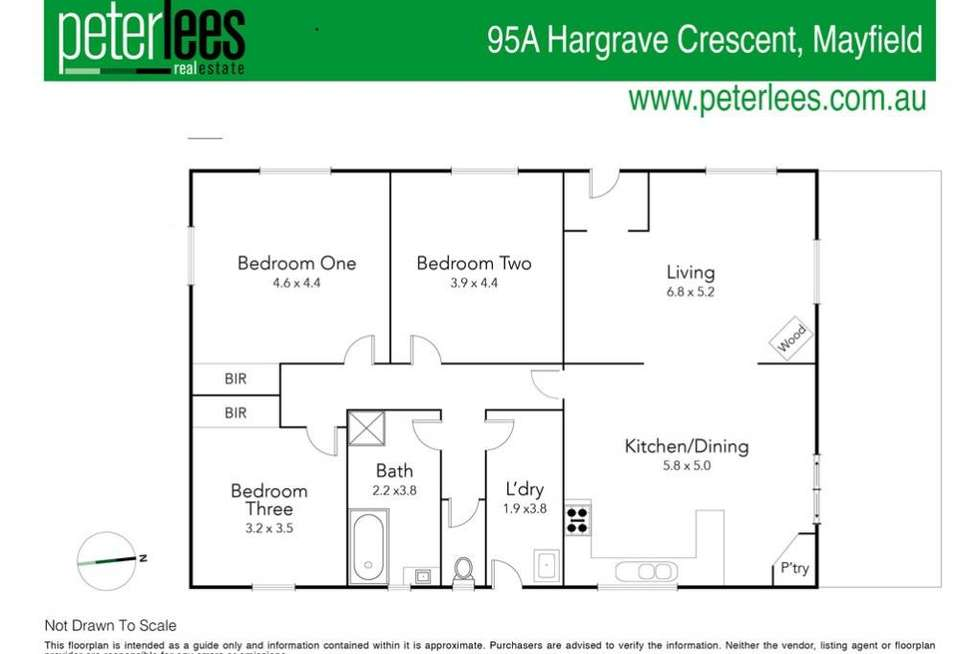 Floorplan of Homely residentialLand listing, 95A Hargrave Crescent, Mayfield TAS 7248