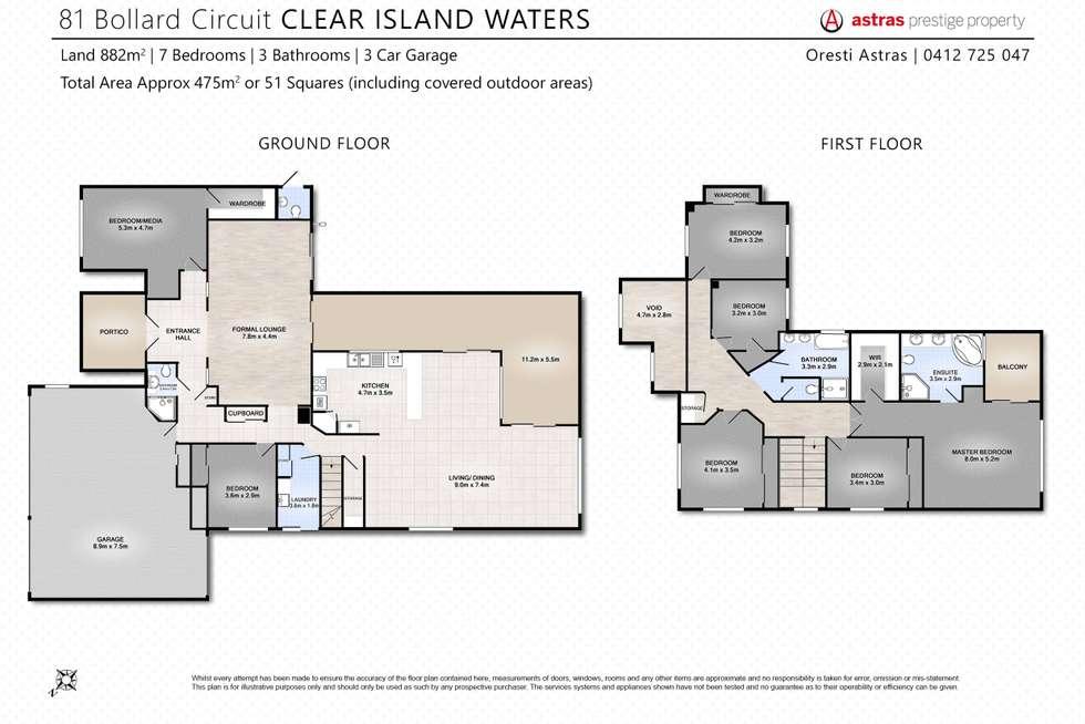 Floorplan of Homely house listing, 81 Bollard Circuit, Clear Island Waters QLD 4226