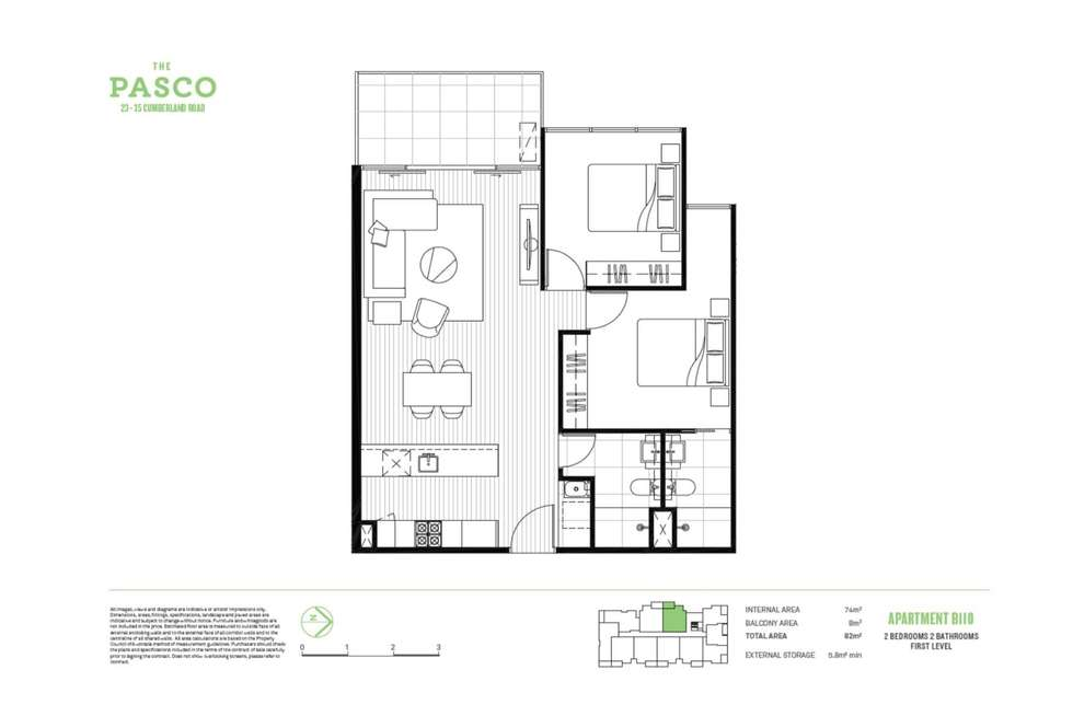 Floorplan of Homely apartment listing, 110B/23-35 Cumberland Road, Pascoe Vale VIC 3044