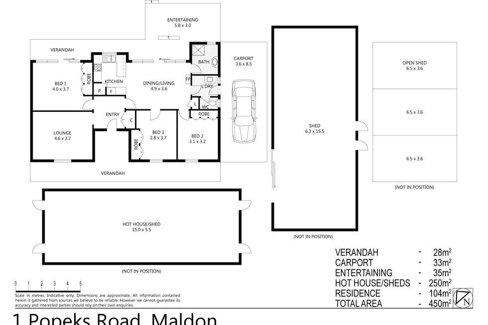 Floorplan of Homely house listing, 1 Popeks Road, Maldon VIC 3463