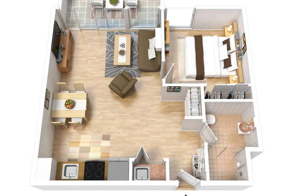 Floorplan of Homely apartment listing, 802/156 Wright Street, Adelaide SA 5000