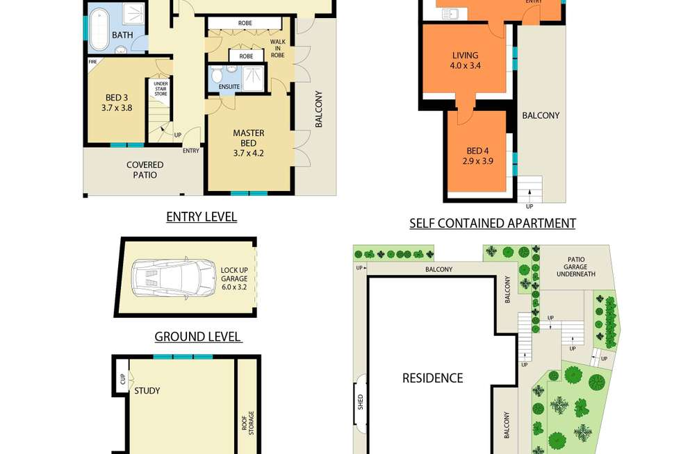 Floorplan of Homely house listing, 80 Cairo Street, Cammeray NSW 2062
