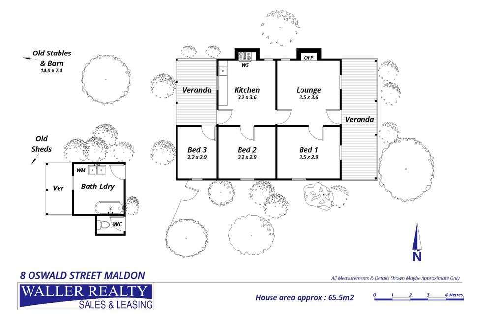 Floorplan of Homely house listing, 8 Oswald Street, Maldon VIC 3463
