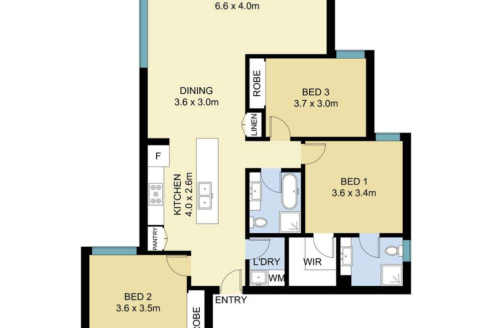 Floorplan of Homely apartment listing, 15/19-21 Kembla Street, Wollongong NSW 2500