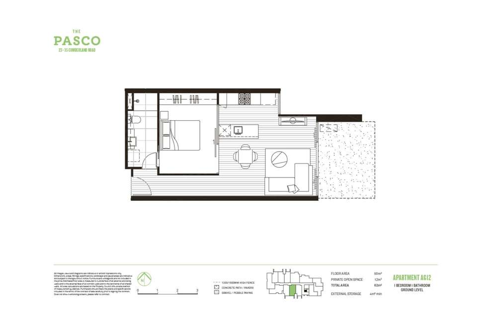 Floorplan of Homely apartment listing, G12A/23-35 Cumberland Road, Pascoe Vale VIC 3044