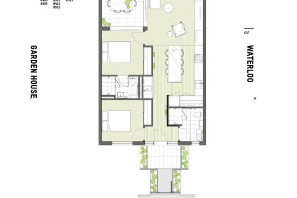 Floorplan of Homely apartment listing, B512/810 Elizabeth Street, Waterloo NSW 2017